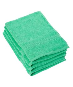 Island Green 28'' Hand Towel - Set of Four by Goza Towels #zulily #zulilyfinds