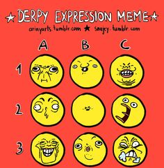 Give this poor soul a PS4 and FFXV — ♫ One stupid derpy expression meme sheet ♫ Drawn...