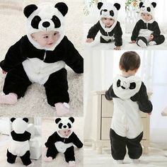 For quality and affordable kid's products, visit Kids Online Clothing. Tons of children's clothes, baby care products and other items are available here online. Panda Costume Diy, Panda Costumes, Onesie Costumes, Happy Baby, Happy Kids, Cute Kids, Cute Babies, Panda Bebe, Halloween Party Costumes