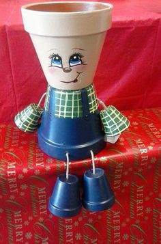 6 Flower Pot People boy by crazycraftingfriends on Etsy