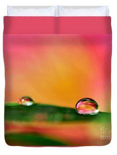"""Rain Drops Queen (88"""" x 88"""") Duvet Cover"""