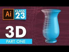 Adobe Illustrator - 3D in Illustrator Part One - Class 23 - Urdu / Hindi - YouTube
