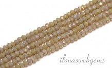 Swarovski style kristal kralen facet rondel ca. 3x2mm(Ha16)