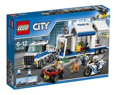 LEGO 60139 City Police Mobile Command Center Set, Truck Toy with Trailer and Motorbike, Jail Break and Chase Toys for Kids Lego City Police, Shop Lego, Buy Lego, Lego City Sets, Lego Sets, Legos, Mobiles, Quad, Modele Lego