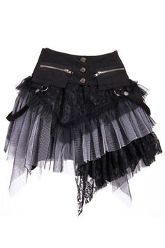 Gothic Steampunk ROCK Schwarz/Grau Petticoat Skirt Einheitsgröße RQ-BL Make this with a front piece and a back piece and lace up both sides. Steampunk Rock, Steampunk Skirt, Steampunk Clothing, Steampunk Fashion, Punk Outfits, Gothic Outfits, Cool Outfits, Fashion Outfits, Fashion Clothes