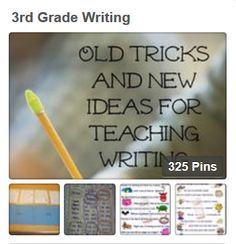 From anchor charts to writing prompts, it's all here. Check out this board for some great writing resources!  #Writing