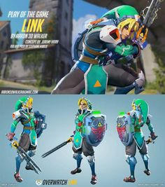 Thought you guys might like this Zelda Overwatch hero fanart...(not mine) Overwatch Video Game, Overwatch Comic, Overwatch Memes, Gaming Memes, Super Smash Bros, V Games, Free Games, Link Zelda, Fandom Crossover