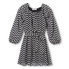 Lots of Love Girls' Chevron Dress