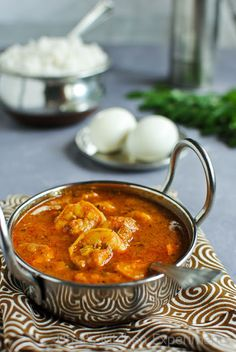 Prawn Masala Curry - South Indian Style ~ My Kitchen Experiments