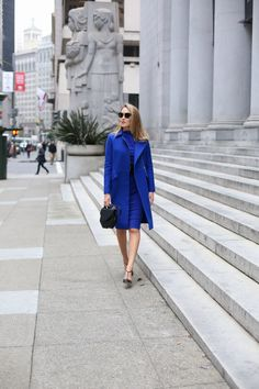 cobalt-monochromatic-coat-sheath-dress-cowl-badgley-mischka-sjp-collection-carrie-pumps-work-wear-office-style-fashion-blog-san-francisco-sf1 LOVE Cobalt-my color!!