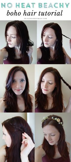 No heat beachy boho hair tutorial // using Tresemme Perfectly Un(Done) products! #ad