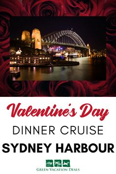 Enjoy Valentine's Day on the water. Take your love on a 3-hour Latin themed dinner cruise on Sydney Harbour. See Sydney's iconic sights from spacious indoor & outdoor decks. Enjoy international style buffet, desserts & cash bar. See live Brazilian dance show, get dance lessons. Cruise also has DJ playing Latin hits & dance floor #Sydney #Australia #NSW #ValentinesDay #ValentinesDayIdeas #dinnercruise #ValentinesDayCruise #ValentinesDayGifIdeas #RomanticGetaway #RomanticTravel #Romance…