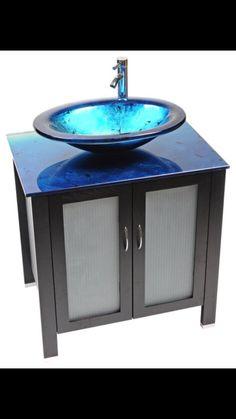...cobalt blue sink...