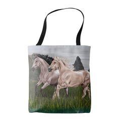 Buckskin and Palomino Horse Tote Bag