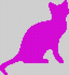 Chat gris crochet cat graphs t Crochet cats and Crochet Fair Isle Knitting Patterns, Afghan Crochet Patterns, Cross Stitch Patterns, Pixel Crochet Blanket, Tapestry Crochet, Filet Crochet Charts, Needlepoint Stitches, Cat Silhouette, Alpha Patterns