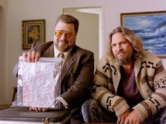 Jeff Bridges and John Goodman in The Big Lebowski Iconic Movies, Latest Movies, Great Movies, El Gran Lebowski, The Big Lebowski, Brothers Movie, Coen Brothers, Big Lebowski Quotes, Mr Deeds