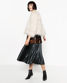 Image 1 of SHORT FAUX FUR COAT from Zara