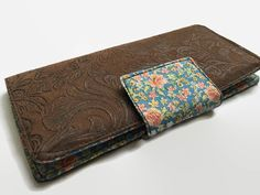 Checkbook Cover Checkbook case Faux Leather by VintageFabricFinds