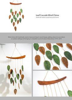 Leaf Cascade Windchime Japanese Style Decoration