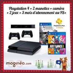 Grand jeu de Noël Maginea.com ! Vous avez voté pour la Sony PlayStation 4 + 2 manettes + camera + 2 jeux + 3 mois d'abonnement au PS+