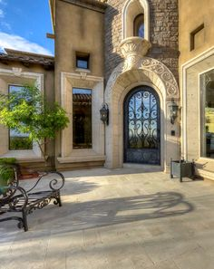Entry. Love The Idea Of This Castle Like, Single Door Mediterranean Homes,