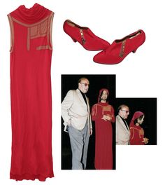 Red tunic and matching red high-heeled shoes worn by Prince in his high-profile meeting with prod
