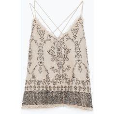 Zara Top With Sequins