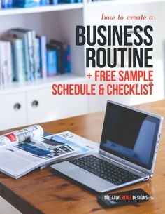 Learn how to create a business routine + FREE sample schedule + checklist download