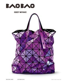 """Bao Bao Issey Miyake's bags collection starts from the idea of """"shapes made by chance"""", which are innovative shapes that transform according to their use, and that are therefore characterized by softness, lightness and adaptability. For the spring/summer season, this philosophy is enhanced by coloring: from the geometrical mix, that make us think to Rubik's cube,  to the  neon nuances, from polka dots to the metallic tones, from pastel colors to the hyper-graphic black&white. -Phuong L."""
