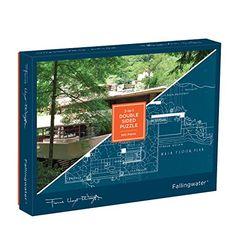 Galison Frank Lloyd Wright Fallingwater 2-Sided Puzzle (Beth)