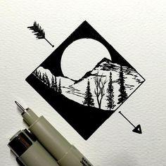#drawing #dailydrawings #illustration #ink #inkdrawing #landscape #geometry #artofdrawingg #iblackwork #art_spotlight #artshelp #art…