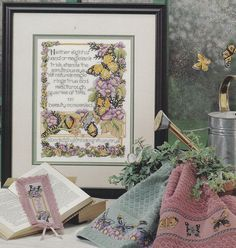 Butterfly Cross Stitch Pattern - Sampler and Borders