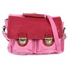 Vintage Schoolbag - Pink