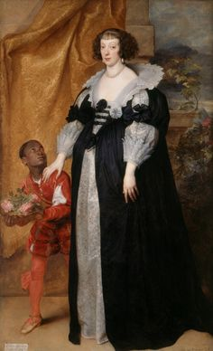 1634 Henrietta of Lorraine with Page by Sir Anthonis van Dyck (Kenwood House - Hampstead, London UK) From edievalpoc.org:tag:england: