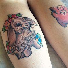 vegan-l0ve:  My new vegan bunny tattoo! Absolutely love it. Vegan for life ❥