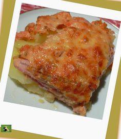 Jambon et pommes de terre en gratin