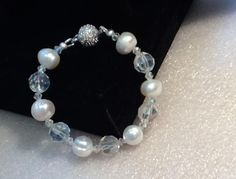 Pearl and Glass Bead Bracelet made by irina scherer from LC.Pandahall.com