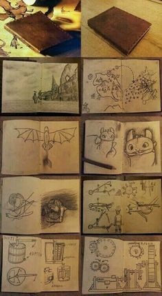 """""""So I've been thinking! So hiccup has a drawing of Astrid sleeping, is this his imagination or has he been climbing into her house at night and drawing pictures of her? What have you been doing hiccup this behavior is just not you"""" Httyd Dragons, Dreamworks Dragons, Dreamworks Animation, Disney And Dreamworks, Hiccup And Toothless, Hiccup And Astrid, Toothless Sketch, Cool Journals, Cool Notebooks"""