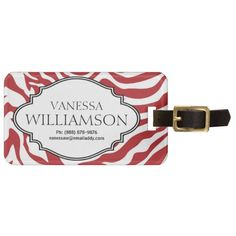 =>Sale on          	Bold RED Zebra Stripe Pattern Personalized Tag For Bags           	Bold RED Zebra Stripe Pattern Personalized Tag For Bags lowest price for you. In addition you can compare price with another store and read helpful reviews. BuyHow to          	Bold RED Zebra Stripe Pattern ...Cleck Hot Deals >>> http://www.zazzle.com/bold_red_zebra_stripe_pattern_personalized_luggage_tag-256427120949801445?rf=238627982471231924&zbar=1&tc=terrest
