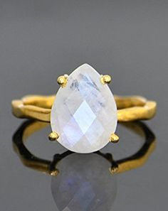 Rainbow Moonstone ring, stackable