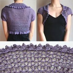 Crochet Spot » Blog Archive » Crochet Pattern: V Lace Shrug - Crochet Patterns, Tutorials and News