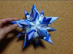 Difficulty: ★ ★ ☆ ☆ ☆ (Low Intermediate) This video demonstrates how to fold an Origami Bascetta Star designed by Paolo Bascetta. Origami 3d Star, Origami Car, Origami Bowl, Origami Dragon, Origami Fish, Modular Origami, Paper Crafts Origami, Origami Instructions, Origami Tutorial