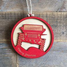 Jeep JK Christmas Ornament by ReimaginedWoodShop on Etsy