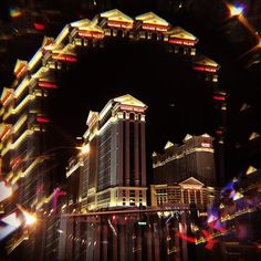 The #nightlife at the place that never sleeps - the #lasvegasstrip. Only an iPhone with a Lensbaby attachment used. #caesarspalace #lensbabymobile #lensbaby