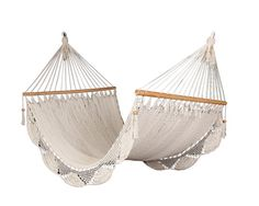 Romantic white hammock handmade of cotton by veronicacolindres, $80.00