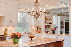 Typhoon Bordeaux is the perfect compliment to this truly elegant kitchen.
