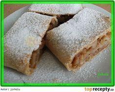 Nejlepší dřevěnický štrúdl Czech Recipes, Ethnic Recipes, Strudel, Apple Pie, Baking Recipes, Food And Drink, Sweets, Bread, Cheese