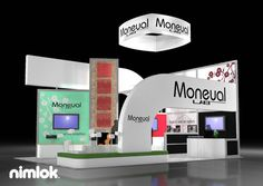 Nimlok creates custom trade show displays and technology exhibits. For Moneual, we created a custom large-scale display solution to showcase their products.