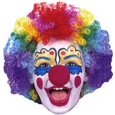 Perruque de clown multicolore enfant - Annikids