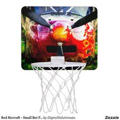 Red Aircraft - Small But Fierce Mini Basketball Hoop